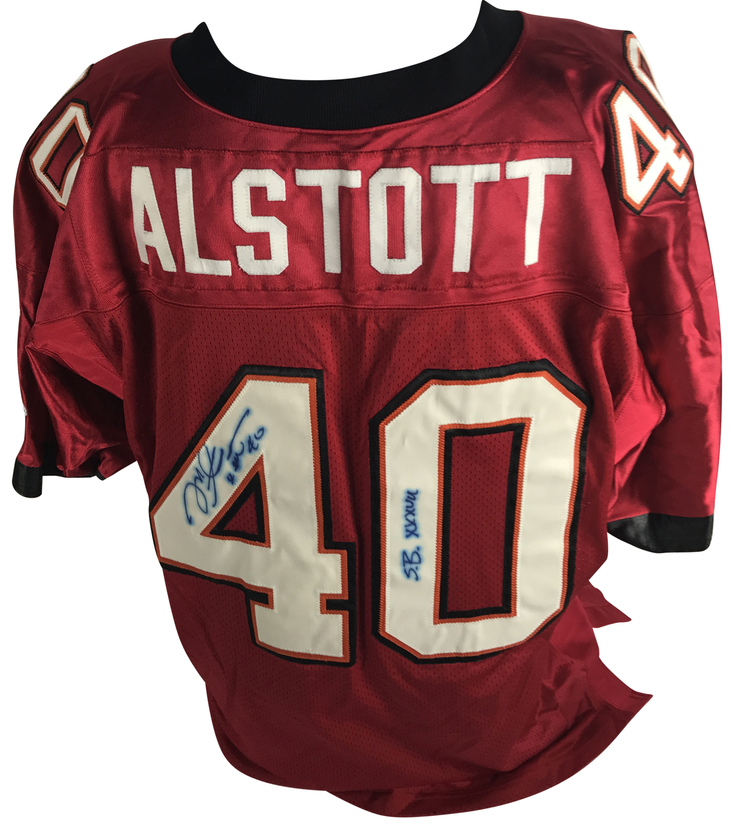 more photos 68795 002a1 Lot Detail - Mike Alstott Signed PROLINE Tampa Bay ...