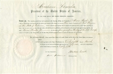 President Abraham Lincoln Signed & Dated 1861 Postmaster Appointment Document Beckett Graded MINT 9!