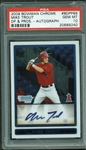 The Perfect Trout: Mike Trout Signed 2009 Bowman Chrome Rookie Card PSA GEM MINT 10!