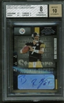 Ben Roethlisberger Signed 2004 Playoff Contenders Rookie Card BGS 8 w/ 10 Auto!