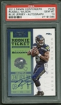 Russell Wilson Signed 2012 Panini Contenders #225 Rookie Card PSA GEM MINT 10!