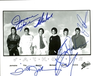 "Jackson 5: Impressive Group Signed 8"" x 10"" Epic Promotional Photograph Beckett MINT 9!"