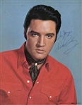 "Elvis Presley Signed 8"" x 10"" Color RCA Photograph Beckett Graded MINT 9!"
