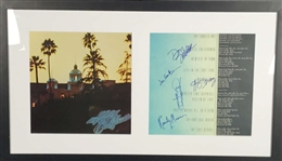 The Eagles Group Signed Hotel California Album w/ All Five Members! (JSA)