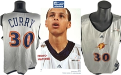 Stephen Curry First Ever NBA Game Worn 2009 Warriors Jersey w/ Exact Photo/Video Match! (Meigray)
