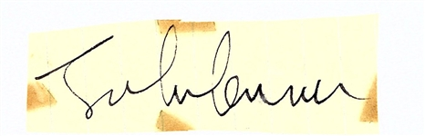 "The Beatles: John Lennon Signed 1.5"" x 2"" Album Page (Beckett/BAS)"