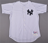 Derek Jeter Game Used Early 2002 New York Yankees Home Pinstripes Jersey (Steiner)