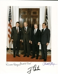 "Four Presidents Near-Mint Signed 8"" x 10"" Color Photograph w/ Reagan, Nixon, Carter & Ford! (Beckett/BAS)"