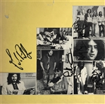 "Led Zeppelin Vintage Group Signed 12"" x 12"" Photo Display w/ Page, Plant, Jones & Rare Manager Peter Grant! (BAS/Beckett)"