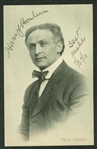 "Harry Houdini Superbly Signed 2.5"" x 4.5"" Postcard Photograph (Beckett/BAS)"