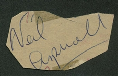 "The Beatles: Neil Aspinall Rare Vintage Signed 1.5"" x 1.5"" Album Page (Beckett/BAS Guaranteed)"