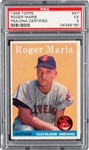 Roger Maris Signed 1958 Topps Rookie Card (PSA/DNA Encapsulated)