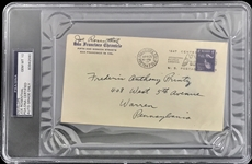 WWII: Joe Rosenthal Signed 1947 First Day Cover PSA/DNA Graded GEM MINT 10!