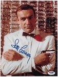 "Sean Connery Signed 8"" x 10"" Color Photo as James Bond - PSA/DNA Graded GEM MINT 10!"