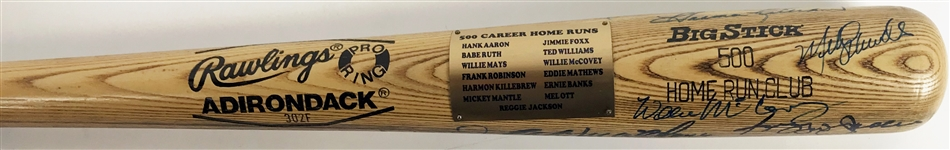 500 Home Run Club Multi-Signed Baseball Bat w/ Original 11 Members! (BAS/Beckett)