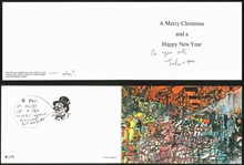 The Beatles: John Lennon Signed 1970 Christmas Card (BAS/Beckett)