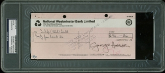The Beatles: George Harrison Signed 1971 Bank Check (PSA/DNA Encapsulated)