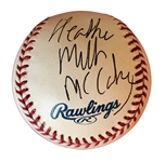 Paul McCartney: Heather Mills McCartney Signed OML Baseball (Beckett/BAS Guaranteed)
