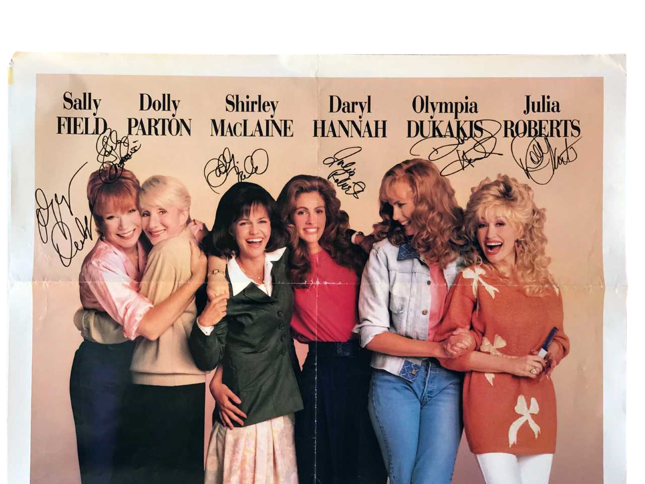 Lot Detail Rare Steel Magnolias Cast Signed Full Sized Movie