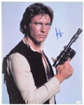 "Harrison Ford Signed 16"" x 20"" Stretched Canvas from Star Wars (JSA)"