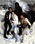 "Star Wars Cast Signed 16"" x 20"" Photo w/ Ford, Hamill, Fisher & Mayhew (PSA/DNA)"
