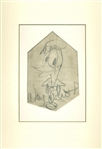 "Walt Disney Incredibly Rare Hand Drawn & Signed Donald Duck 5"" x 9"" Portrait Sketch! (JSA & Phil Sears!)"