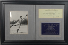 Ty Cobb Signed & Hand Written 1945 Laundry Check (Beckett/BAS Guaranteed)