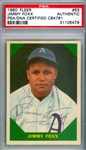 Jimmie Foxx RARE Signed 1960 Fleer Baseball Greats #53 Card (PSA/DNA Encapsulated)