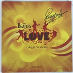 "Ringo Starr Signed Cirque Du Soleil ""Love"" 12"" x 12"" Program (Beckett/BAS Guaranteed)"