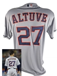 2014 Jose Altuve Game Worn PHOTO MATCHED Houston Astros Road Jersey from 9/27/14 Game vs. NYM (MLB)
