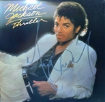 "Michael Jackson Signed ""Thriller"" Album w/ HUGE Signature - One Of The Best In The Hobby! (PSA/DNA)"