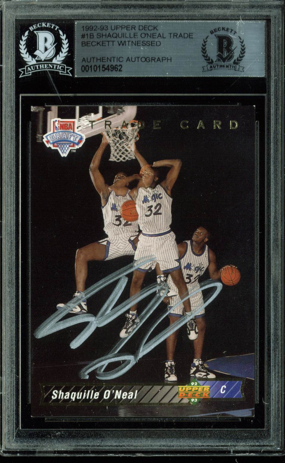 Lot Detail Shaquille Oneal Signed 1992 93 Upper Deck