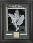 "Marilyn Monroe 3.25"" x 3.25"" Signature Cut in Beautiful Framed Display (JSA)"