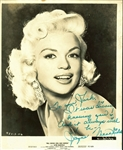"Jayne Mansfield Signed Stunning 8"" x 10"" Vintage Promotional Photograph (BAS/Beckett)"