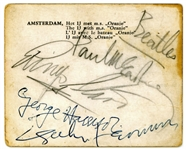 "The Beatles: Group Signed 3.5"" x 3"" Amsterdam Photograph c. 1963! (Tracks & Beckett/BAS Guaranteed)"