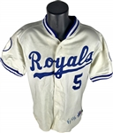 1993 George Brett Game Used and Signed Kansas City Royals Home Jersey (Beckett/BAS & Mears Guaranteed)