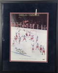 "Herb Brooks Signed & Inscribed ""Coach"" 1980 Mens Hockey 11"" x 14"" Poster (PSA/DNA)"