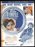 "Shirley Temple Signed Vintage Sheet Music from ""The Stowaway"" (BAS/Beckett)"