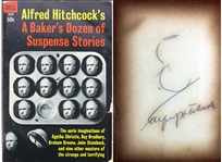 "Alfred Hitchcock Signed ""A Bakers Dozen"" Book w/ Hand Drawn Self Portrait Sketch (BAS/Beckett)"