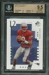 Tom Brady 2000 SPX Authentic #118 Rookie Card Beckett GEM MINT 9.5!