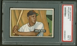 1951 Bowman Willie Mays #305 Rookie Card - PSA Graded NM 7!
