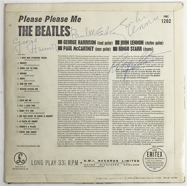 The Beatles Exceptionally Fine Signed Please Please Me Record Album - PSA/DNA Graded MINT 9 - One Of The Highest Graded Beatles Group Signed Albums Known to Exist!