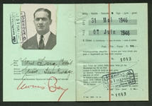 Moe Berg ULTRA-RARE Signed European Passport While Working As An American Spy! (Beckett/BAS Guaranteed)