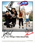 "10 Things I Hate About You Rare Cast Signed 8"" x 10"" Promotional Photo w/ Ledger, Stiles, Gordon-Levitt, and Oleynik! (PSA/DNA)"