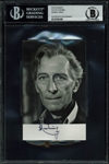 "Peter Cushing Vintage Double Signed & Inscribed 3.5"" x 5.5"" Black & White Photograph (BAS/Beckett Encapsulated)"