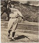 "Grover Cleveland Alexander ULTRA-RARE Signed 6"" x 7"" Glossy Chicago Cubs Photograph (JSA)"