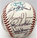 1972 NY Yankees Exceptional Team Signed OAL Baseball (JSA)