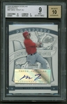 Mike Trout Signed 2009 Bowman Sterling Rookie Card BGS 9 w/ 10 Auto!