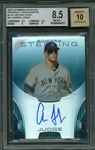 Aaron Judge Signed Limited Edition (09/25) 2013 Bowman Sterling Blue Refractors BGS 8.5 w/ 10 Auto!