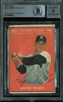 Roger Maris Signed 1961 Topps MVP Card #478 - BAS/Beckett Graded MINT 9!